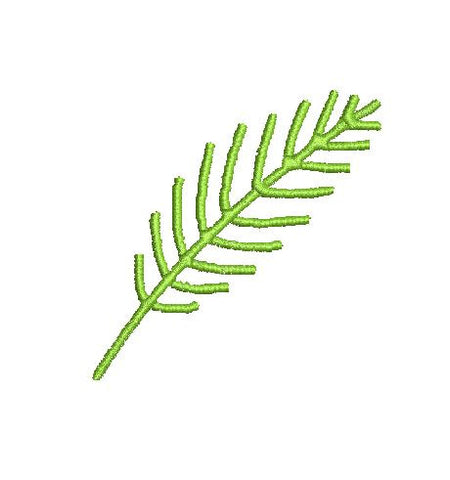 PALM FROND MachineEmbroidery Design 4X4