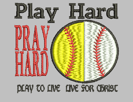 Play Hard Pray Hard Embroidery Design Instant Download Simply Southern Legend