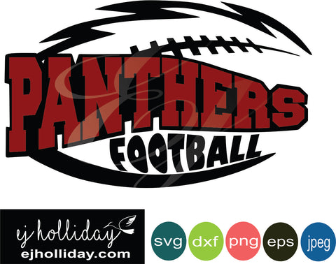 Panthers Football Layered Knockout svg dxf eps png jpeg jpg Vector Graphic Design Digital Cutting File Instant Download Cameo Silhouette Cricut