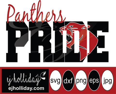 Panthers Pride Mascot 19  svg eps png dxf jpeg jpg vector Graphic Design Digital Cutting File Instant Download Cameo Silhouette Cricut