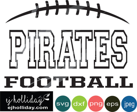 Pirates football split design svg eps png dxf jpeg jpg digital cutting file