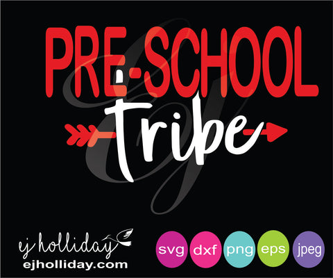 Pre school tribe with arrow svg eps png dxf jpeg jpg vector Graphic Design Digital Cutting File Instant Download Cameo Silhouette Cricut