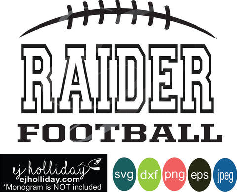 Raider Football split design svg eps jpeg jpg png dxf Graphic Design Digital Cutting File Instant Download Cameo Silhouette Cricut