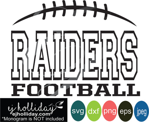 Raiders Football Split Design svg eps jpeg jpg png dxf Graphic Design Digital Cutting File Instant Download Cameo Silhouette Cricut