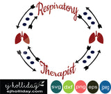 Respiratory Therapist Frame EPS SVG DXF PNG JPG JPEG VECTOR Graphic Design Digital Cutting File Instant Download Cameo Silhouette Cricut