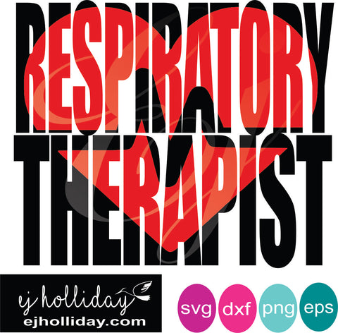 Respiratory Therapist knockout svg eps png dxf Graphic Design Digital Cutting File Instant Download Cameo Silhouette Cricut
