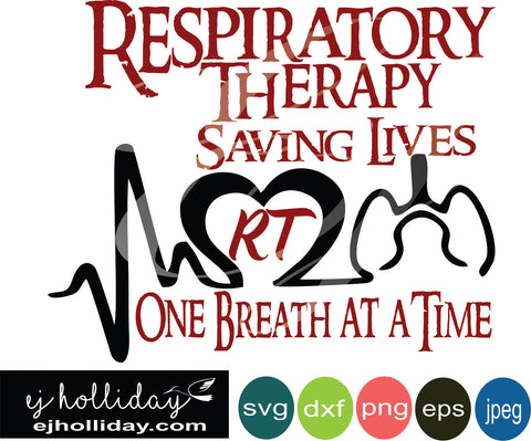 Respiratory Therapy Saving lives SVG EPS DXF JPG JPEG VECTOR Graphic Design Digital Cutting File Instant Download Cameo Silhouette Cricut