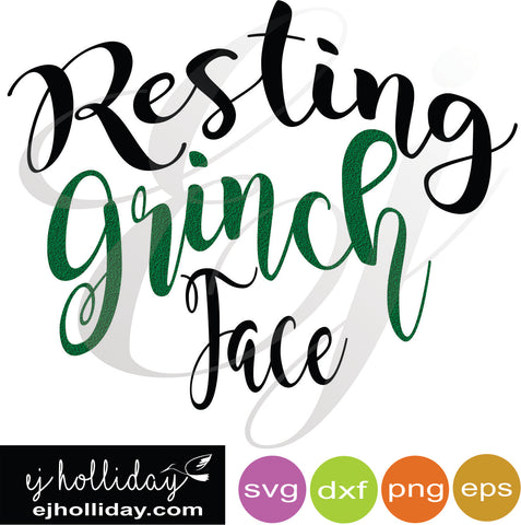 Resting Grinch Face svg dxf eps png VECTOR Graphic Design Digital Cutting File Instant Download Cameo Silhouette Cricut