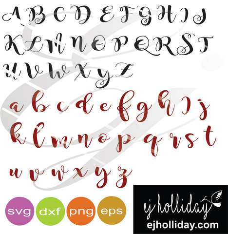 Southern Flare Font svg dxf eps png VECTOR Graphic Design Digital Cutting File Instant Download Cameo Silhouette Cricut