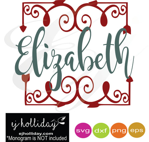 Square Monogram Frame svg dxf eps png Vector Graphic Design Digital Cutting File Instant Download Cameo Silhouette Cricut