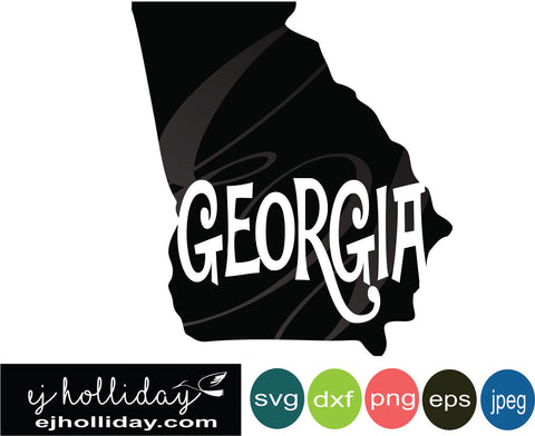 State of Georgia svg eps jpeg jpg png dxf Graphic Design Digital Cutting File Instant Download Cameo Silhouette Cricut