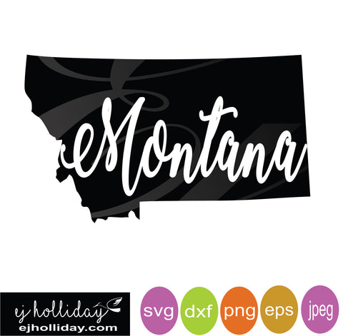 State of Montana svg dxf eps png Vector Graphic Design Digital Cutting File Instant Download Cameo Silhouette Cricut