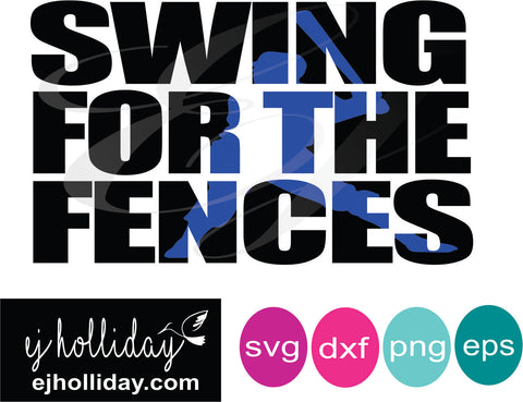 Swing for the fences knockout svg dxf eps png Vector Graphic Design Digital Cutting File Instant Download Cameo Silhouette Cricut
