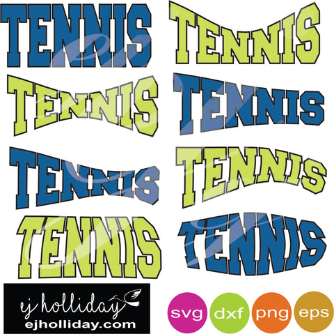 Tennis curved svg dxf eps png Vector Graphic Design Digital Cutting File Instant Download Cameo Silhouette Cricut