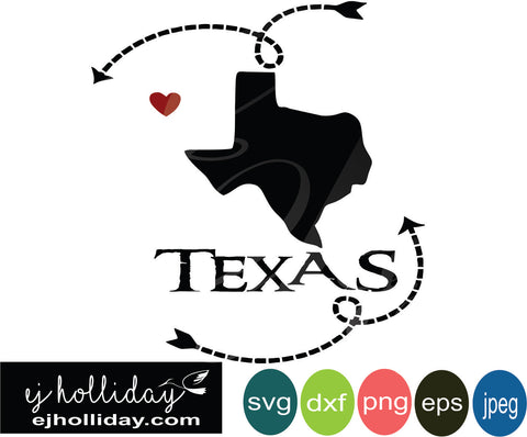 Texas silhouette heart arrows 19 svg eps png dxf jpeg jpg vector Graphic Design Digital Cutting File Instant Download Cameo Silhouette Cricut