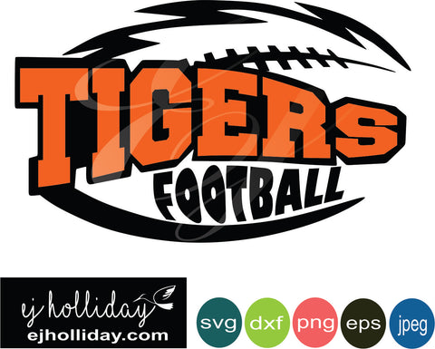 Tigers Football layered knockout svg dxf eps png jpeg jpg Vector Graphic Design Digital Cutting File Instant Download Cameo Silhouette Cricut