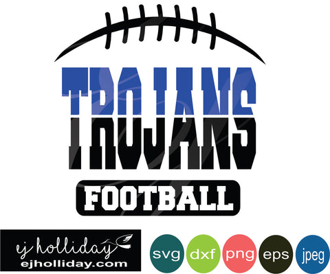 Trojans Football Split Design 19 SVG EPS DXF JPG JPEG VECTOR Graphic Design Digital Cutting File Instant Download Cameo Silhouette Cricut