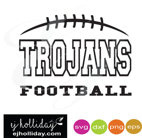 Trojans Football svg dxf eps png Vector Graphic Design Digital Cutting File Instant Download Cameo Silhouette Cricut