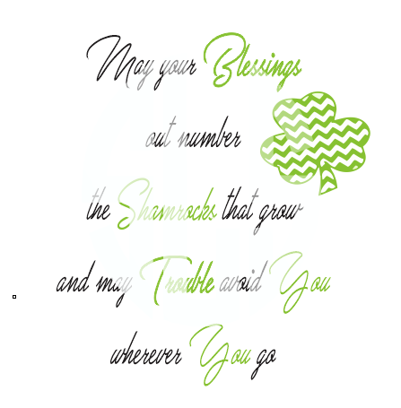 MAY YOUR BLESSINGS OUT NUMBER THE SHAMROCKS THAT GROW SVG DXF PDF JPG JPEG VECTOR Graphic Design Digital Cutting File Instant Download Cameo Silhouette Cricut