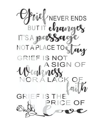 GRIEF NEVER ENDS BUT IT CHANGES SVG DXF PDF JPG JPEG VECTOR Graphic Design Digital Cutting File Instant Download Cameo Silhouette Cricut