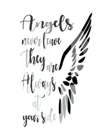 ANGELS NEVER LEAVE THEY ARE ALWAYS AT YOUR SIDE SVG Instant Download Silhouette Cricut SVG DXF SCUTS2