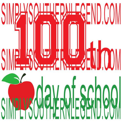 One hundredth school day 100th day of school Digital cutting Design Instant Download Silhouette Cricut SVG DXF SCUTS2