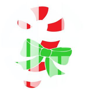 Candy Cane with Bow Vinyl Design Instant Download Silhouette Cricut SVG DXF SCUTS2