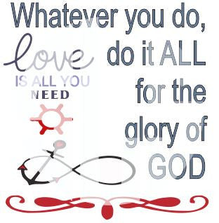 Whatever you do do it all for the glory of God SVG DXF PDF JPG JPEG VECTOR Graphic Design Digital Cutting File Instant Download Cameo Silhouette Cricut
