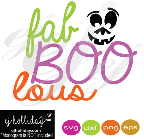 fabBOOlous SVG EPS DXF PNG VECTOR Graphic Design Digital Cutting File Instant Download Cameo Silhouette Cricut