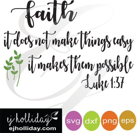 faith svg dxf eps png Vector Graphic Design Digital Cutting File Instant Download Cameo Silhouette Cricut