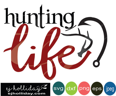 hunting life duck deer SVG EPS DXF JPG JPEG VECTOR Graphic Design Digital Cutting File Instant Download Cameo Silhouette Cricut