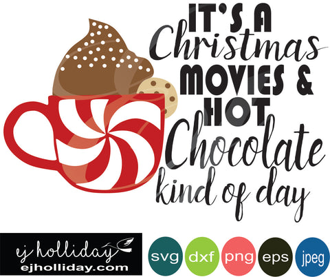it's a Christmas Movies 19 svg dxf eps png Vector Graphic Design Digital Cutting File Instant Download Cameo Silhouette Cricut