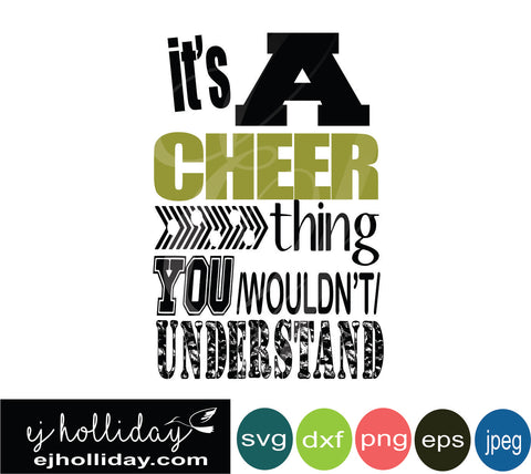 its a cheer thing svg eps jpeg jpg png dxf Graphic Design Digital Cutting File Instant Download Cameo Silhouette Cricut