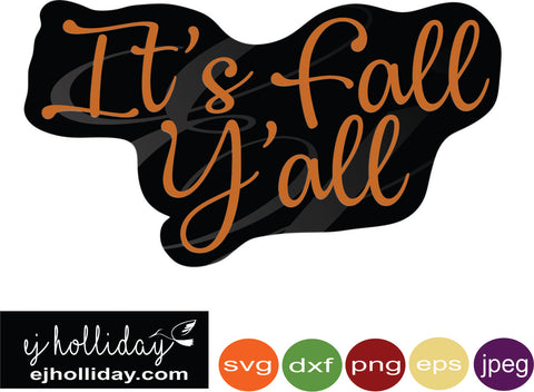 it's fall y'all knockout design svg eps png dxf jpeg jpg digital cutting file