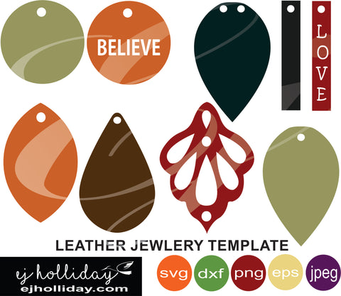 leather jewelry template svg eps jpeg jpg png dxf Graphic Design Digital Cutting File Instant Download Cameo Silhouette Cricut