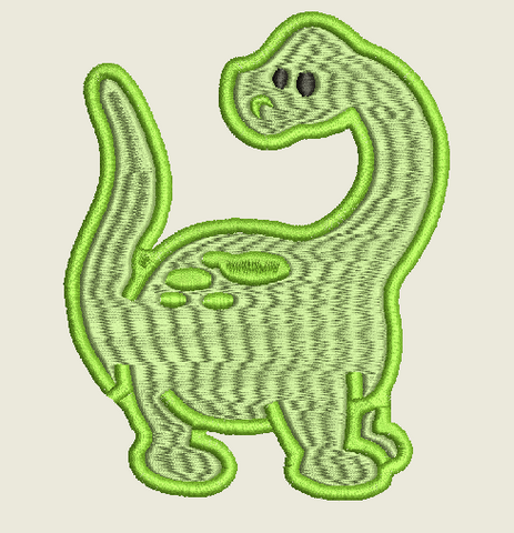 Baby Dinosaur Embroidery Design 6X10
