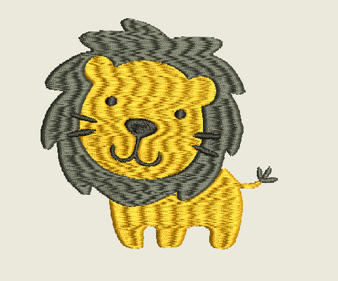 Lion Machine Embroidery Design 4X4