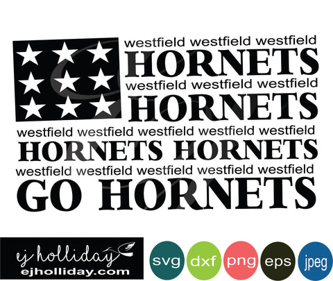 westfield hornets flag 19 svg eps png dxf jpeg jpg vector Graphic Design Digital Cutting File Instant Download Cameo Silhouette Cricut
