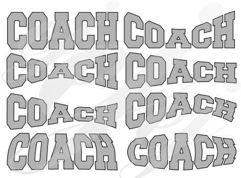 Coach curved SVG EPS DXF PDF JPG JPEG VECTOR Graphic Design Digital Cutting File Instant Download Cameo Silhouette Cricut