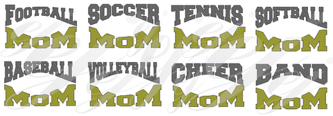Sports Mom Curved SVG EPS DXF PDF JPG JPEG VECTOR Graphic Design Digital Cutting File Instant Download Cameo Silhouette Cricut