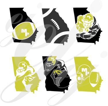 MP Georgia Football Designs SVG EPS DXF PNG VECTOR Graphic Design Digital Cutting File Instant Download Cameo Silhouette Cricut