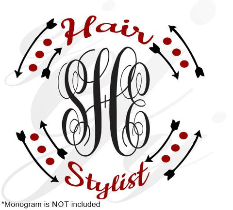 Hair Stylist Frame SVG EPS DXF PDF JPG JPEG VECTOR Graphic Design Digital Cutting File Instant Download Cameo Silhouette Cricut