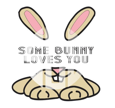 Some Bunny Loves You SVG DXF PDF JPG JPEG VECTOR Graphic Design Digital Cutting File Instant Download Cameo Silhouette Cricut