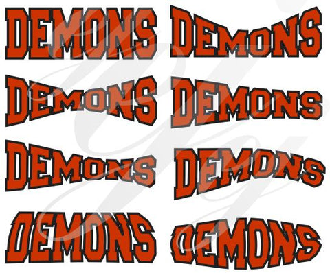 Demons SVG DXF PDF JPG JPEG VECTOR Graphic Design Digital Cutting File Instant Download Cameo Silhouette Cricut