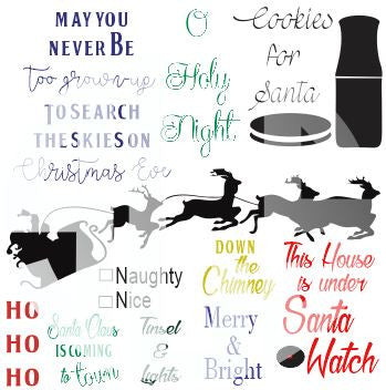 10 Pack Christmas SVG DXF PDF JPG JPEG VECTOR Graphic Design Digital Cutting File Instant Download Cameo Silhouette Cricut