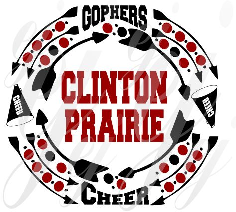 Clinton Prairie Cheer Frame SVG EPS DXF PDF JPG JPEG VECTOR Graphic Design Digital Cutting File Instant Download Cameo Silhouette Cricut