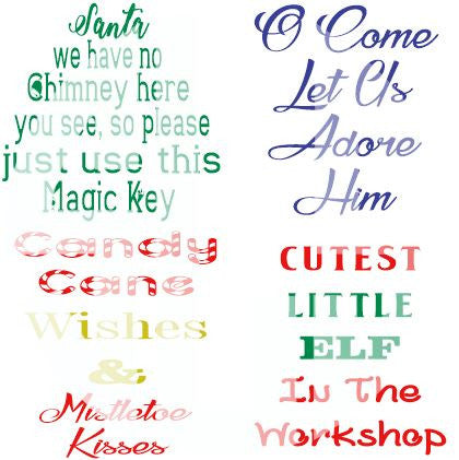 Christmas Phrases 4 Pack SVG DXF PDF JPG JPEG VECTOR Graphic Design Digital Cutting File Instant Download Cameo Silhouette Cricut
