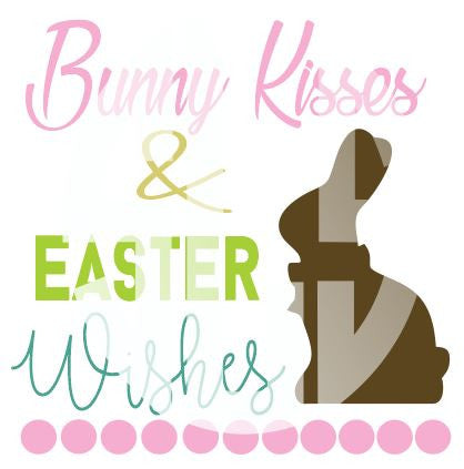 Bunny Kissess & Easter Wishes SVG DXF PDF JPG JPEG VECTOR Graphic Design Digital Cutting File Instant Download Cameo Silhouette Cricut