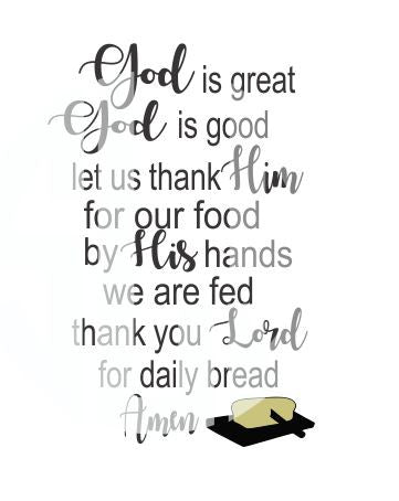 God is great God is good SVG DXF PDF JPG JPEG VECTOR Graphic Design Digital Cutting File Instant Download Cameo Silhouette Cricut