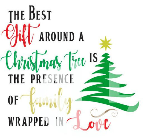 The Best Gift Around A Christmas Tree SVG DXF PDF JPG JPEG VECTOR Graphic Design Digital Cutting File Instant Download Cameo Silhouette Cricut